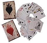 aubaho 2X Poker Karten Pokerkarten Kartenspiel Box Hülle Buchattrappe Antik-Stil Joker