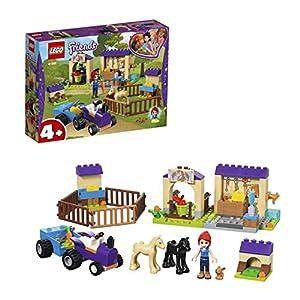 LEGO Friends LaScuderiadeiPuledridiMia con la Mini-Doll diMia,Le Figure di 2 Cavallini e del Coniglio,Un Trattore con Rimorchio,Fattoria Giocattolo per Bambini, 41361 5702016370256 LEGO