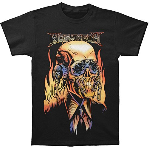 Pliuegy Megadeth Men's Vic Rattlehead T-shirt Black