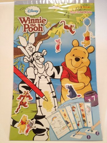 Disney Winnie L'Ourson - panini - Carnet Méga Coloriages avec des Stickers