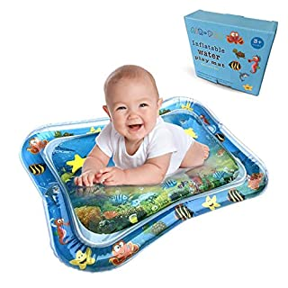Baby Water Mat, Athena Play Time Inflatable Tummy Time for Infants Toddlers, Leak Proof Water Baby Mat Activity Centre for Newborns Engaging Fun
