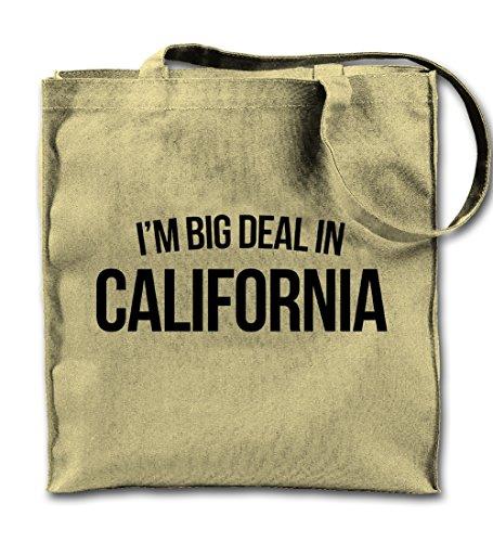 I'm Big Deal In California Famous Komisch Natürliche Leinwand Tote Tragetasche, Tuch Einkaufen Umhängetasche (Baumwolle Umhängetasche Natürliche)