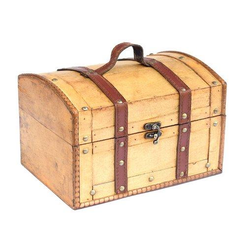 Truhe, Holzbox, Holztruhe, Schatztruhe, Kiste, hellbraun
