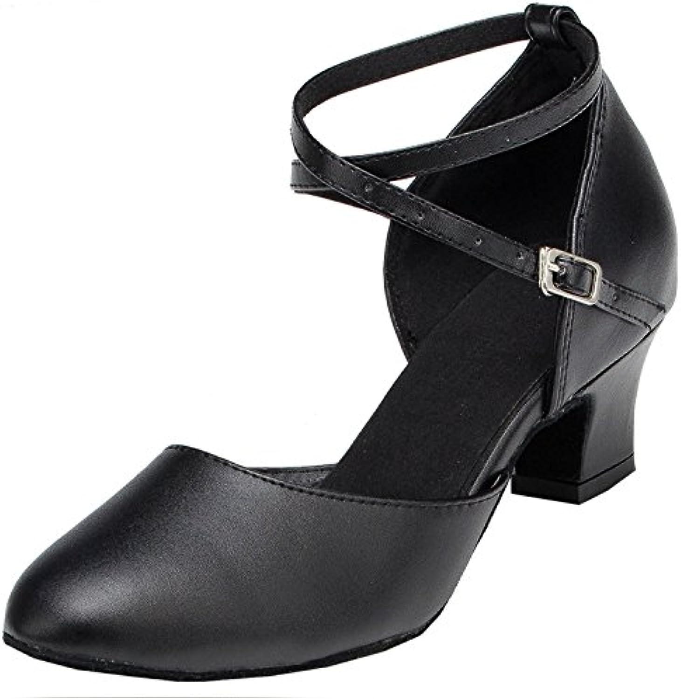 la croix minitoo sangle en en en cuir noir des chaussures de danse de salon latino salsa b074t79rg7 2,5 uk parent d287c8