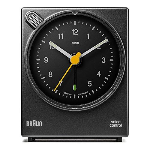 Braun - Despertador clásico activación voz BNC004BKBK