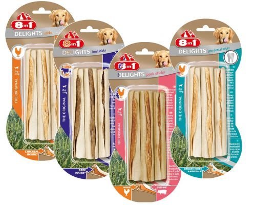 Artikelbild: 8in1 Delights Kausticks 12er Pack (4 x 3er Pack) by Zoolox ®