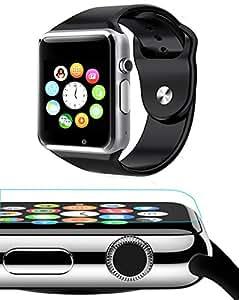 Cubee E LV High Quality Touch Screen Bluetooth Smart Wrist Watch with Camera, Pedometer, Sleep-tracker, monitor Bluetooth Connectivity compatible with Samsung IPhone HTC Moto Intex Vivo Mi One Plus 3, LYF Earth 2 Oppo, Vivo, Lenovo Zuk Z1