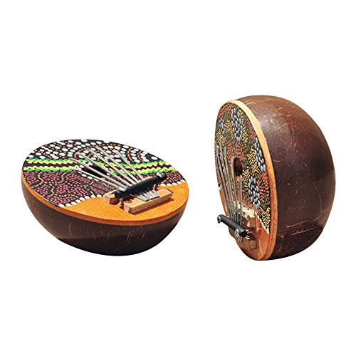 Kokosnuss Muschel Kalimba 6 Key Thumb Klavier Stimmbares Musikinstrument Bestes Weihnachtsgeschenk für Musikliebhaber