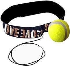 samLIKE Kampf Ball mit Kopfband für Reflex Speed Training Boxen Boxen Punch Übung