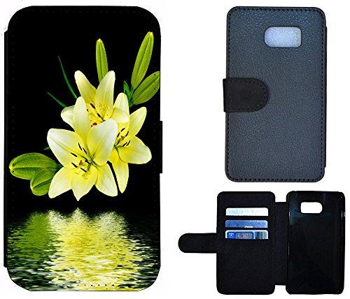 Coque Flip Cover Housse Etui Case Pour, Tissu, 1190 Gitarre Rot Lila, Apple iPhone 4 / 4s 1195 Blume Lilie Gelb Grün Schwarz