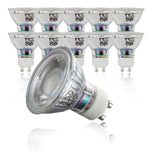 LED Lampe | GU10 10er Set | LED Birne 5 Watt | Glühbirne 400 Lumen | Leuchtmittel ersetzt Halogen 50 Watt | warmweiss 3000K | Abstrahlwinkel 36° -