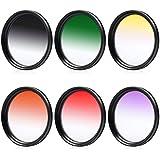 6pcs Ensemble de filtres couleur progressifs 58mm Kit pour Canon 1DX 5D Mark 5D2 5D3 6D 7D 70D 60D 700D 650D 1100D 1000D 600D 50D 550D 500D 40D 30D 350D 400D 450D 30D 10D EOS 60D 600D 650D 550D 500D 1100D 1000D 700D 450D 400D 350D 300D LF140
