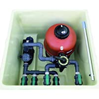 Caseta para piscinas semi enterrada (Piscina de 8x4 o 50 m3) + Filtro D