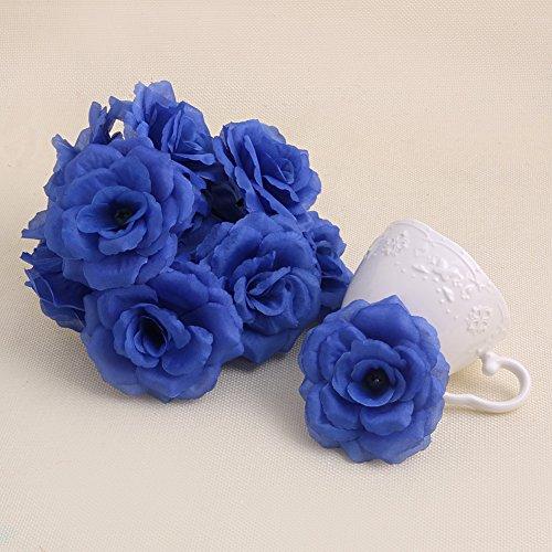 sen Künstliche Seide Blume Köpfe DIY Kleine Bud Party Hochzeit Home Decor, blau (Blume Stirnbänder Diy)
