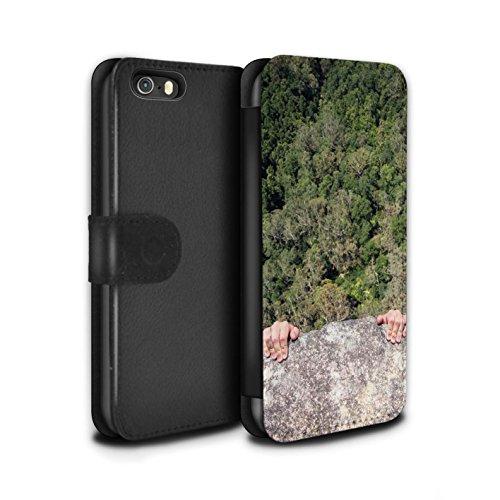 Stuff4 Coque/Etui/Housse Cuir PU Case/Cover pour Apple iPhone SE / Basket-Ball de Bureau Design / Vers Bas Sous Collection Gueule de Bois