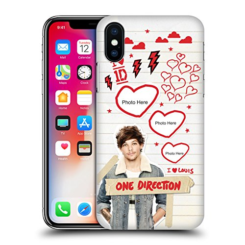 Cover Personalizzata Personale One Direction 1D Niall Crazy Over You Cover Retro Rigida per Apple iPhone X Louis