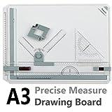 A3 Tavolo da disegno, Preciva A3 Tavolo da progettazione Tavolo da disegno DIN A3 con accessori 51 x 36,5 CM