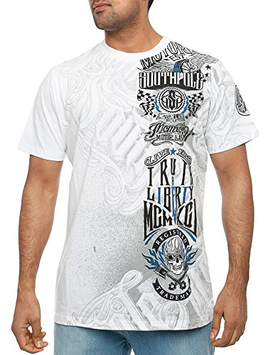 Southpole Truth and Liberty Print Tee 14321-1006 White