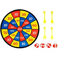 Surplex Children's Hanging Dartboard for Indoor or Outdoor, Includes 4 Balls 4 Darts Coating for Firm Grip Dartboard Darts Throwing Game For All Ages, 30cm