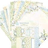 24pcs Gemustertes Papier Scrapbooking Papier Dekorpapier Blumen Vintage Album Scrapbook