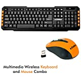 #5: ProDot TLC-107+145 2.4Ghz Multimedia Wireless Keyboard and Mouse Combo Compact and Portable for PC, Laptop, Desktop, Android TV and Smart TV (Peel Orange)