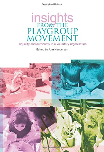 Insights from the Playgroup Movement: Equality and Autonomy in Voluntary Organisation