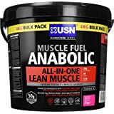 USN Muscle Fuel Anabolic Lean Muscle Gain Shake Powder, Raspberry Smoothie - 4 kg