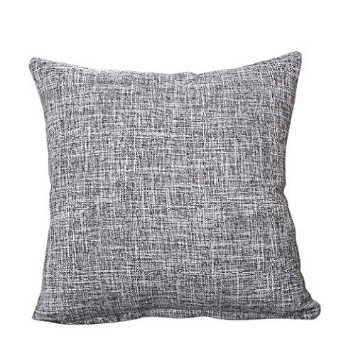 Nunubee Klassisch Einfarbig Baumwolle Leinen 45*45cm Dekorative Kissenbezüge Kissenbezug Kissenhülle,