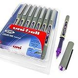 Uni-Ball–Lot de 8 stylos à bille, pointe 0,7 mm, encre violette - UB-157