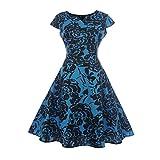 Vestido de noche plisado estilo vintage de años 50 y 60 con diseño floral de Saihui Retro...