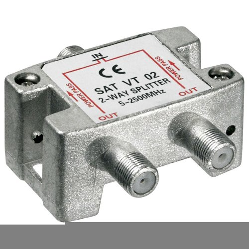 Goobay 63455 SAT-Verteiler, 3-fach für Satellitenanlagen, 5-2500 MHz