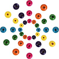 1000 Pezzi Perline di Legno Assortiti Colori Rotondi Perline di Legno per Gioielli Fai da Te, 8 mm, 10 mm e 12 mm