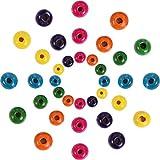 1000 Piezas Cuentas Redondas de Madera Cuentas de Madera de Colores Surtidos para DIY Fabricación de Joyas, 8 mm, 10 mm y 12 mm