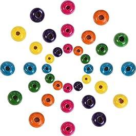 1000 Pezzi Perline di Legno Assortiti Colori Rotondi Perline di Legno per Gioielli Fai da Te, 8 mm,