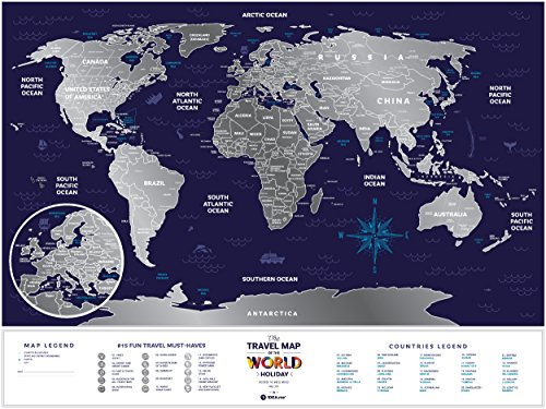 Deluxe silver scratch places off world poster travel edition 80 deluxe silver scratch places off world poster travel edition 80 x 60 large places ive been holiday travel map laminated paper map a novel gift gumiabroncs Choice Image