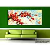 Tamatina Canvas Painting - Red Lily Flowers - Home Décor - Paintings For Living Room - Modern Art Painting - Painting For Home Décor - Painting For Drawing Room - Wall Painting For Bedroom - Painting For Living Room - Wall Painting For Home