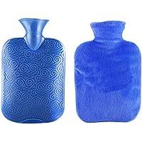Klassische transparente Gummiwasserflasche 2 Liter mit Abdeckung für Schmerz-Kältetherapie #36 preisvergleich bei billige-tabletten.eu