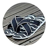 Ablaze Jin-eu mens slippers Casual Flip Flops Flat Sandals Shoes Striped Flip Flops Beach Sandals Casual Shoes Outside Shoes,Black,9.5