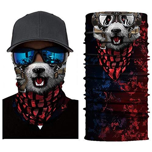 Feitb Face Shield Maske Radfahren Halstuch Motorrad Kopftuch Multifunktionstuch Sturmmaske Gesichtsmaske Ski Balaclava Stirnband Sturmhaube Halloween (B)