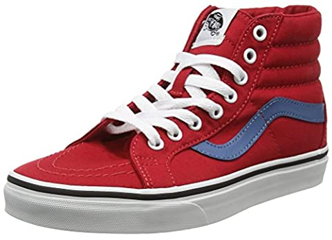 Vans Unisex Adults' SK8 Reissue Hi-Top Sneakers, Red (Canvas Racing Red/Blue Ashes), 7.5 UK
