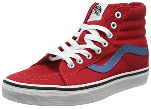 Vans SK8-Hi Reissue, Scarpe da Ginnastica Alte Unisex - Adulto, Rosso (Canvas Racing Red/Blue Ashes), 40 EU
