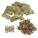20Pcs Mini Eisen Schmetterling Scharniere für Schränkchen Schublade Tür Golden