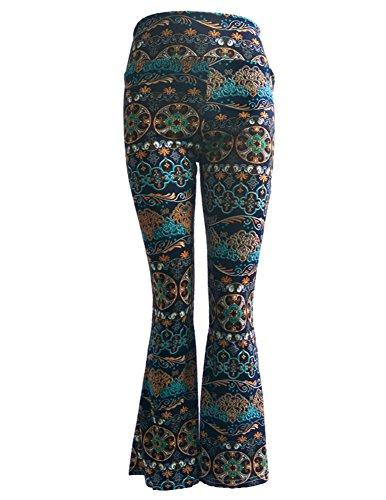 Donna Pantaloni Palazzo Cucitura Fluidi Harem Baggy Casual Ampi Pantaloni A Zampa 1
