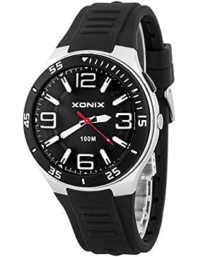 Analoge XONIX Herrenarmbanduhr wasserdichte bis 100m mit Hintergrundlicht, XAR76Q/5