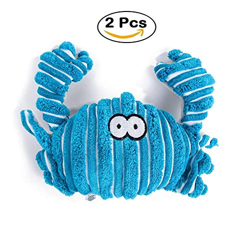 Pet Puppy Chew Plüsch Sound Spielzeug Quietschender Tier Hund Chew Toy Dog und Cat Squeaker,Blue (Hundespielzeug Stuff Tiere)