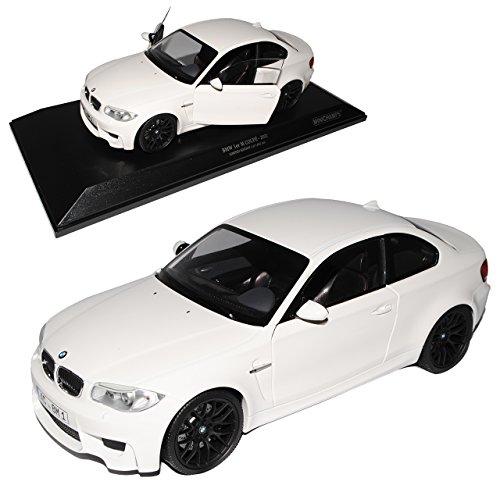 Preisvergleich Produktbild BMW 1er 1M M E82 Coupe Weiss 2007-2013 1/18 Minichamps Modell Auto