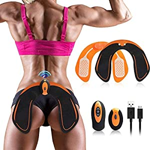 Nitoer Hip Trainer Device for Buttocks,Muscle Stimulator,Abs Trainer For Men Women,Buttox Trainer,Sit Up Exercise Equipment,Free Gel Pads