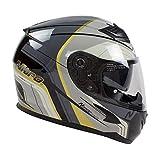 Nitro N2300 Pioneer Motorcycle Helmet - Black/Gunmetal/Silver/Gold M