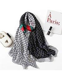 DYEWD sciarpe di Alta qualità in Seta, Sciarpa da Donna, Sciarpa Selvaggia  Moda, ff43a18ec34