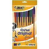 Bic Cristal Fine Ball Pen Set - Pack of 10 (Multicolour)